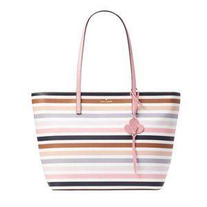 Kate Spade Large Kelsey Striped Tote Summer Bag